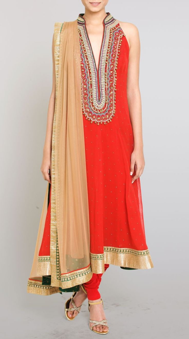 Ghungroo Red Suit