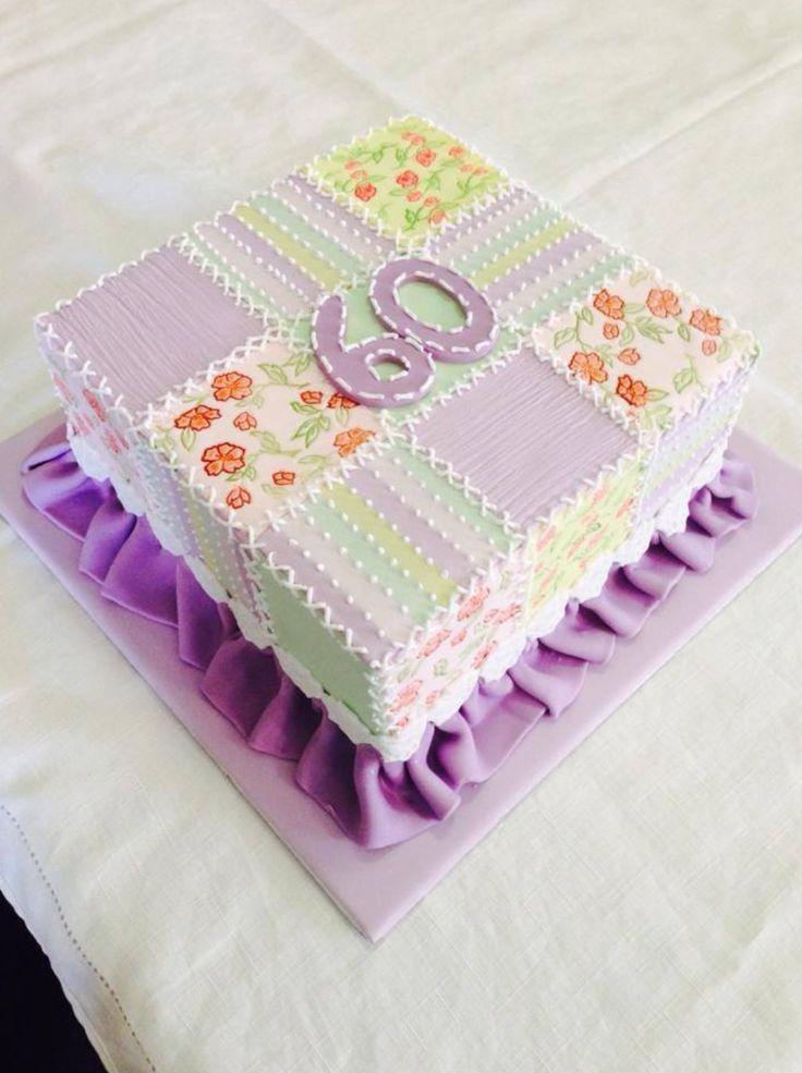 60th birthday patchwork cake