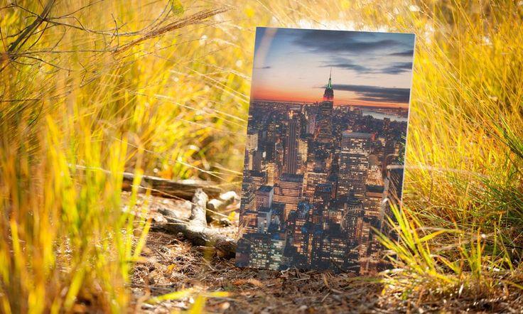 Prachtige skylinefoto geprint op 18mm Berkenplex #fotoophout #berkenhout