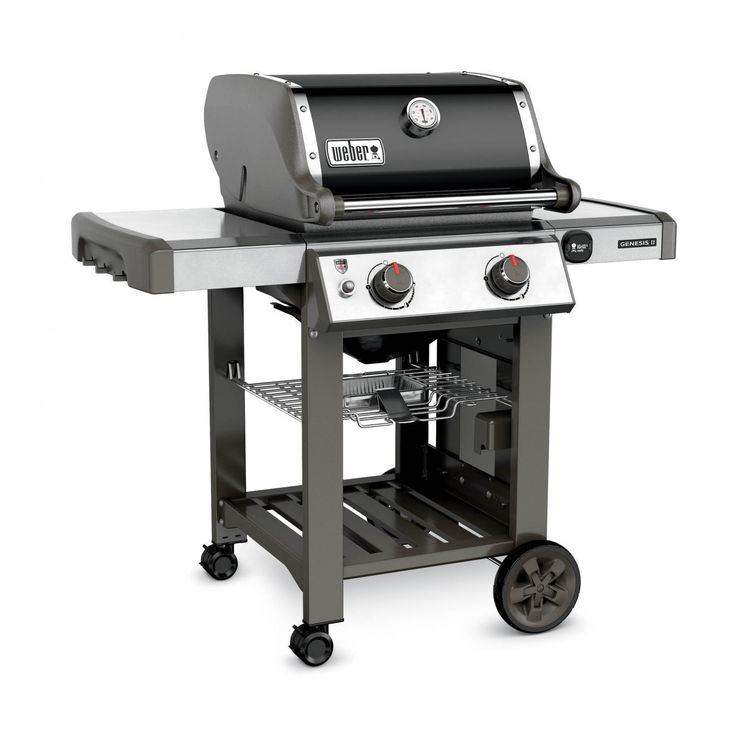 Weber Genesis II E-210 Freestanding Natural Gas Grill - Black Weber Genesis II E-210 Freestanding Natural Gas Grill - Left Angled View