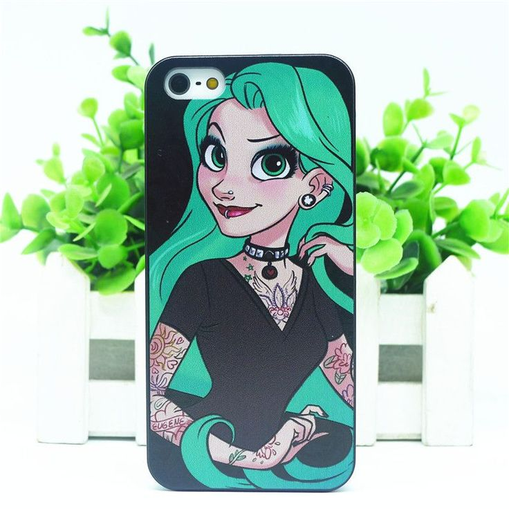 For Apple i Phone iPhone 5 5s Case Tattoo Ariel Little Mermaid series Protective Cover Case For iPhone5 iPhone5s