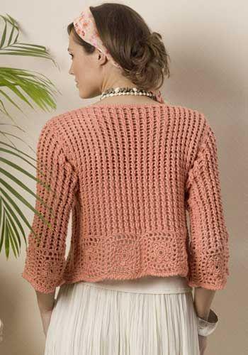 Turnberry Cardigan Jacket -- free crochet pattern by Drew Emborsky