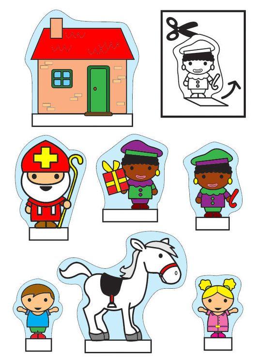 Knutselen kijkdoos Sinterklaas. Knutselen voor kinderen | Cat 26772.