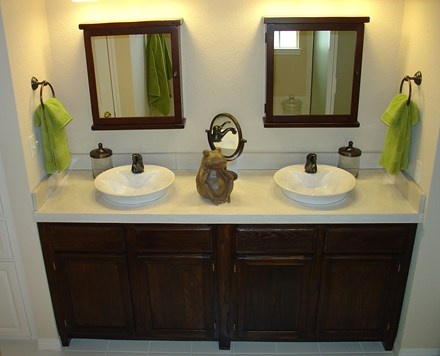Concrete Countertop   Bathroom Vanity Featuring 1920s Styling. Ancient Art Concrete  Countertops Austin, TX