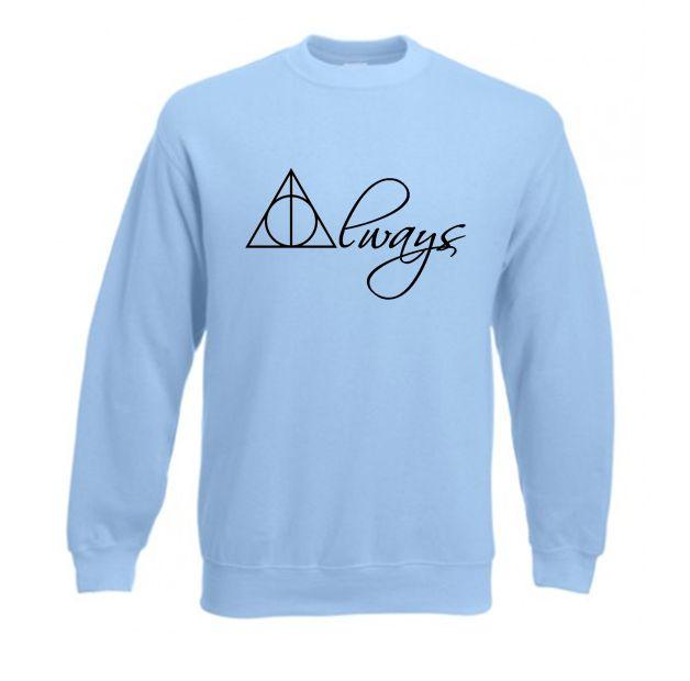 Bluza ALWAYS insygnia śmierci znak Harry Potter hogwart dla POTTERHEADS SHOCK share&block bluza młodzieżowa damska i męska z napisem/ z nadrukiem modna stylowa oryginalna tania i fajna w ubrania moda damska