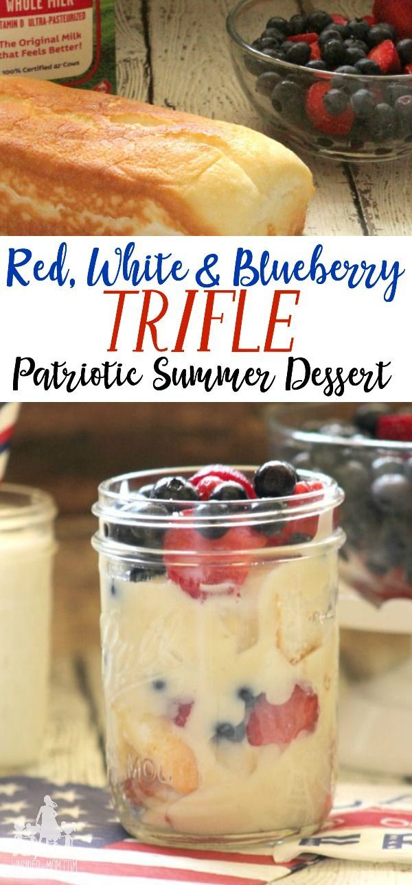 Red, White & Blueberry patriotic dessert with homemade vanilla pudding.  Easy recipe for a delicious summer dessert!