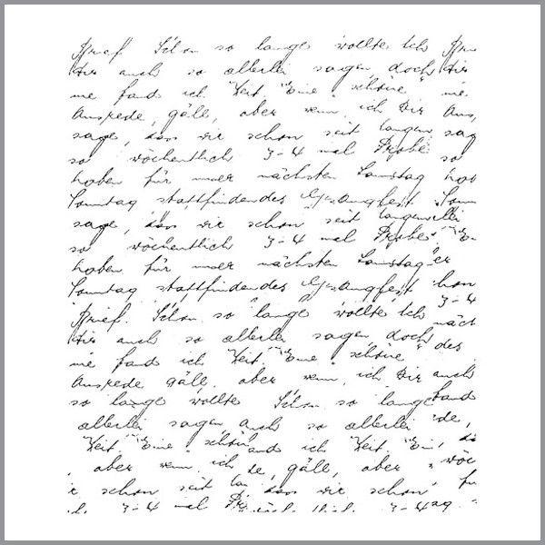 Timbre de Goma - Hoja de Carta escrita