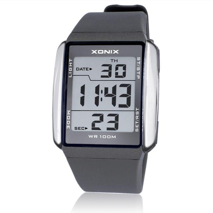 XONIX Мужчины Спортивные Часы Водонепроницаемые 100 м На Открытом Воздухе Многофункциональные Цифровые Часы Плавание Запуск LED Наручные Часы Montre Homme #women, #men, #hats, #watches, #belts, #fashion