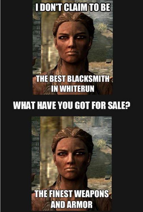 Skyrim blacksmith logic via Reddit user Luke4397