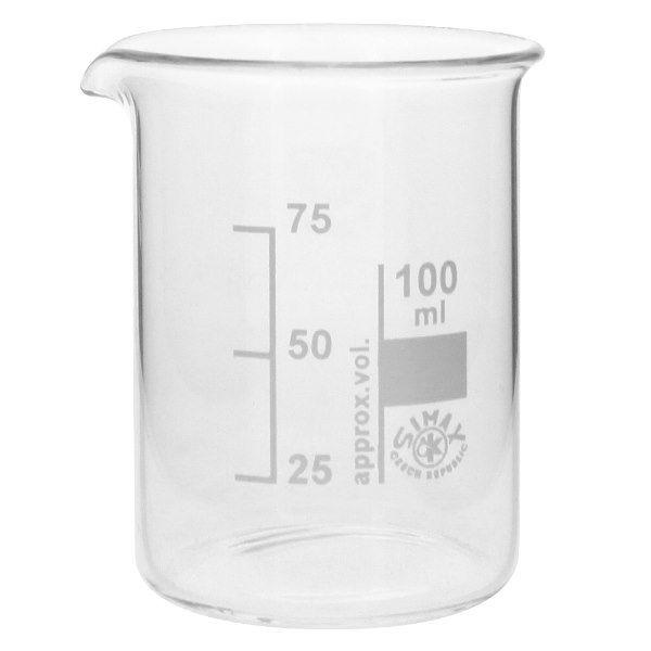 Becherglas 100ml Borosilikatglas, niedrige Form