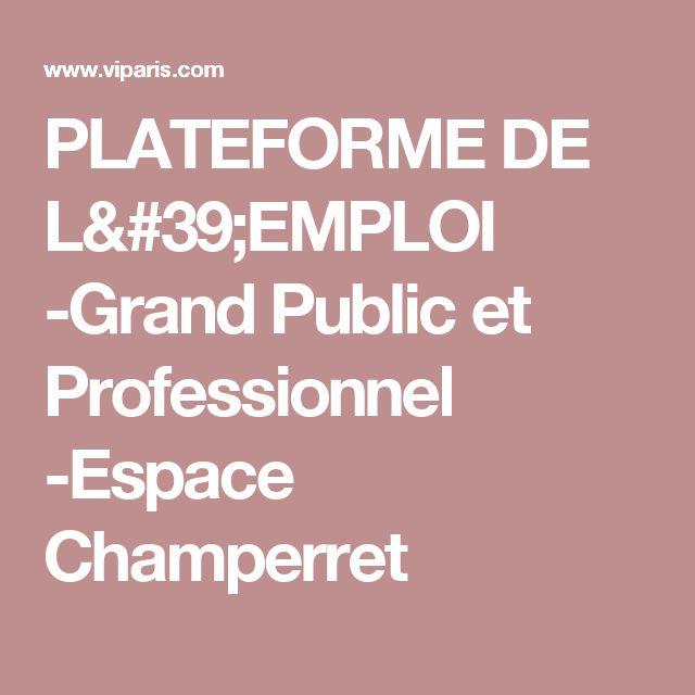 PLATEFORME DE L'EMPLOI -Grand Public et Professionnel -Espace Champerret