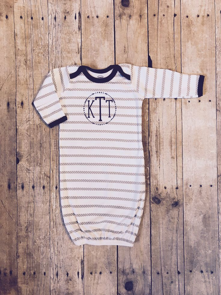 21 best handmade by jennilee images on pinterest baby embroidery personalized monogram baby gown baby boy coming home outfit baby boy gown unique negle Images
