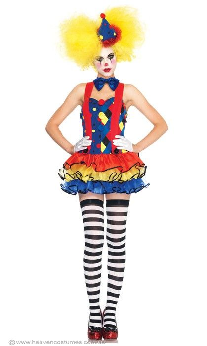Giggles The Clown Sexy Women's Costume, Sexy Adult Circus Clown Costume - Halloween Costumes | fancy dress costumes Australia | wigs, masque...