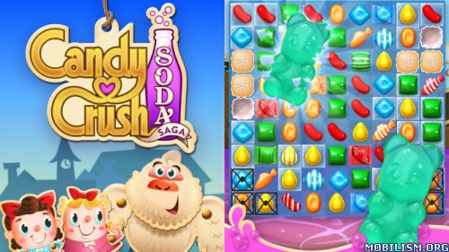 Candy Crush Soda Saga v1.84.7 (Mods)Requirements: 2.3+Overview: Candy Crush Soda Saga is a brand new game from the makers of the legendary Candy Crush Saga. New candies, more divine combinations and challenging game modes...