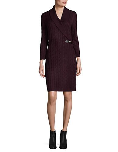 Brands | Sweater Dresses  | Cable Knit Sweater Dress | Hudson's Bay