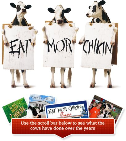 July 13th!!1   Join Us July 13, 2012, at Your Chick-fil-A® Restaurant    Come dressed like a cow from head to hoof and we'll reward you with a FREE meal. (If you're a little chicken, don't worry, a partial costume still receives a FREE entrée.) And calves in costumes get FREE meals too; so bring in the whole herd for some family fun.