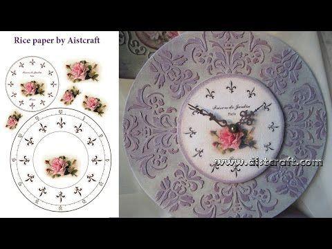 Decoupage tutorial - DIY. Handmade clock. Shabby chic.Vintage. - YouTube