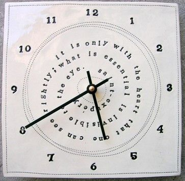 The Little Prince Quote Clock by MB Art Studios eclectic clocks