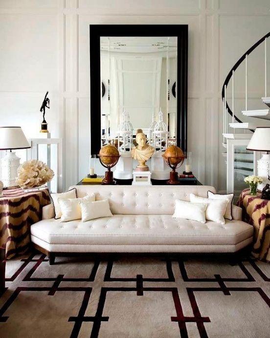 Die besten 25+ schwarzer Sofa Dekor Ideen auf Pinterest - wohnzimmer modern barock