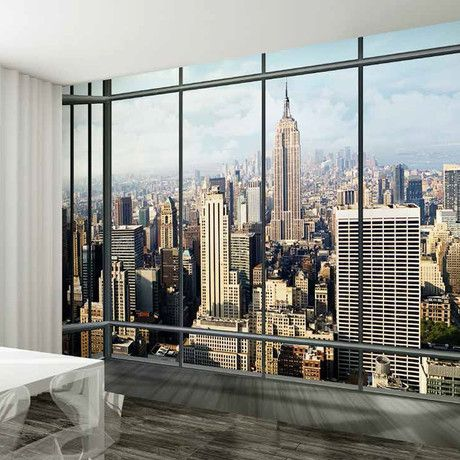 I dont know who would buy this but it kind of cool! - Get back in a New York groove by surrounding yourself daily with the beauty of the New York Skyline Window. It's an instant upgrade to any wall that needs it, with four easy-to-hang pieces that make up one high-definition image. Whatever room is b...