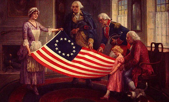American Folklore: Did Betsy Ross Really Create the First American Flag?