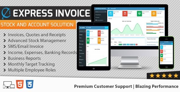 Express Invoice - The Complete Billing Software by UltimateKode One stop for Billing, Inventory, Accounts Management BillingCreate Invoices, Quotes and Purchase Receipts Recurring Invoices Four Statuses : Paid, Due, Pending, Cancelled Per Item Tax  Cash, Bank Transfer, Paypal & Card Payments