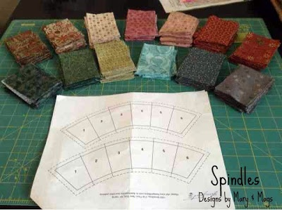 Double wedding ring quilt foundation pieced