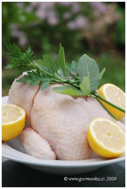 citronová polévka s kuřetem