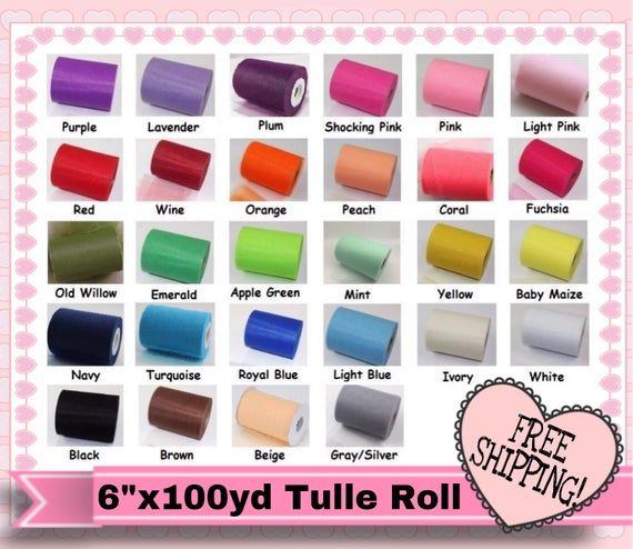 "6/"" 100Yds Tutu Spool Tulle Rolls Soft Craft Bow Wedding Bridal Party Decoration"