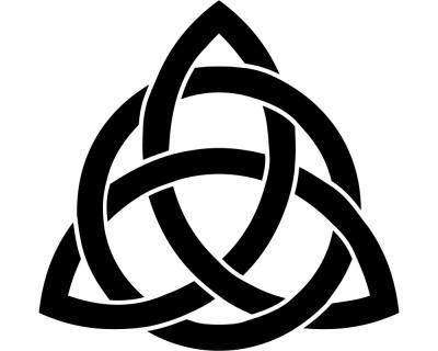 Keltischer Triquetra Knoten Kreislauf des Lebens