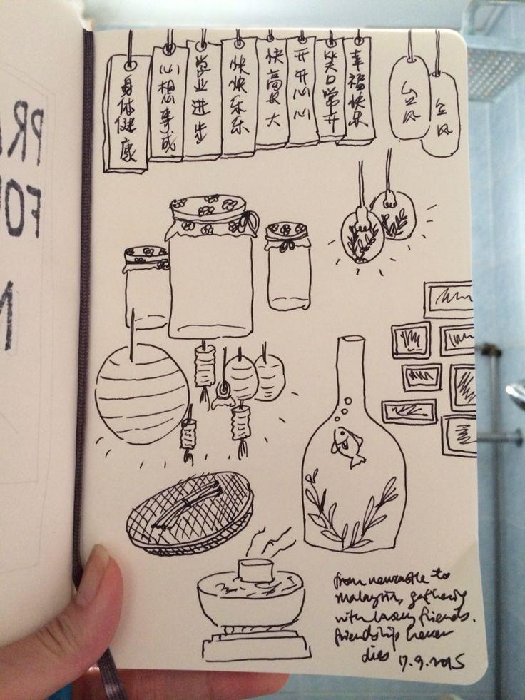 Journal - dinner at tai feng steamboat, menjalara. #illustration #artwork #art #draw #food