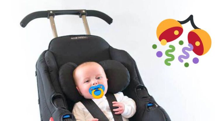 The Sit 'n' Stroll Elite by Lilly Gold is an international car seat, a stroller, and a booster seat, FAA approved Flight seat.
