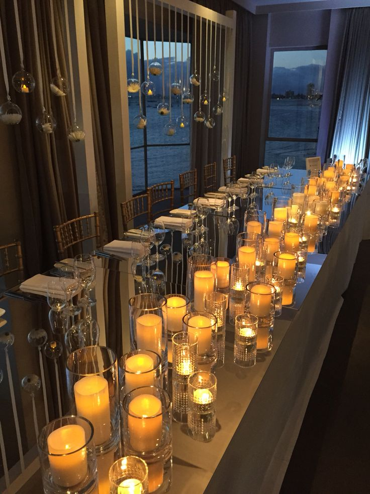 Loving the candles on the head table tonight Harbour Room, RMYS St Kilda, Melbourne www.foodanddesire.com.au