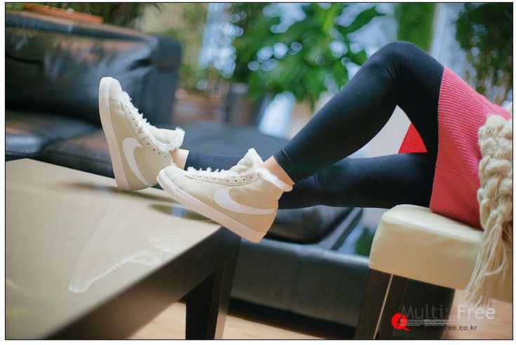 Купить Nike Blazer зимняя женская обувь с мехом на меху найк купить