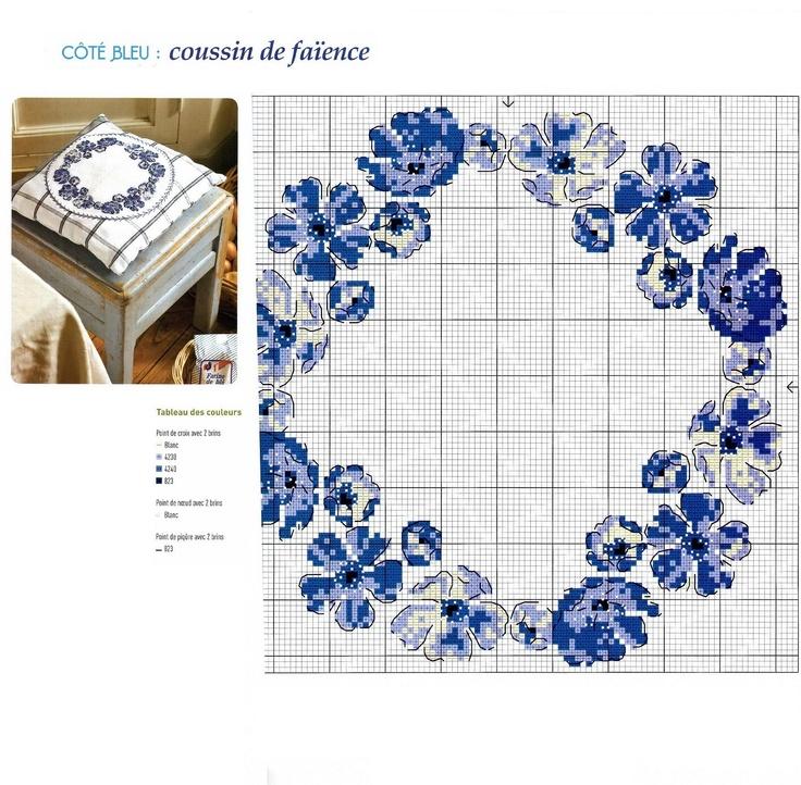 Pillow blue #afs