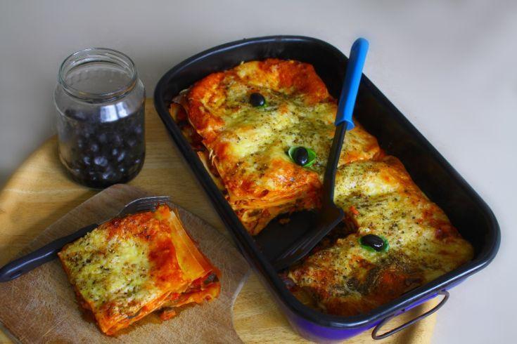Lasagne so šunkou a šampiňónmi