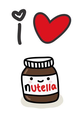 T-Shirt Feminina - I Love Nutella - Foto