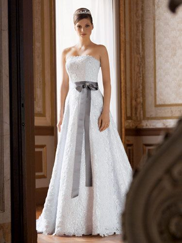 Strapless beaded lace gown...so pretty!David Bridal, Cords Lace, Wedding Dressses, Davids Bridal, Allover Beads, Beads Cords, The Dresses, Lace Dresses, Aline Gowns