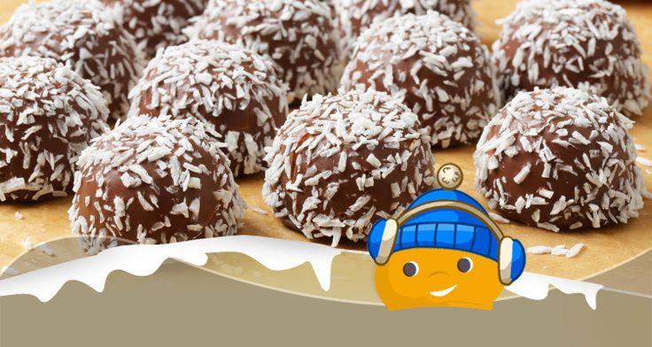 Ricette Light - Bon bon al cioccolato e cocco - ChiacchiereDolci.it