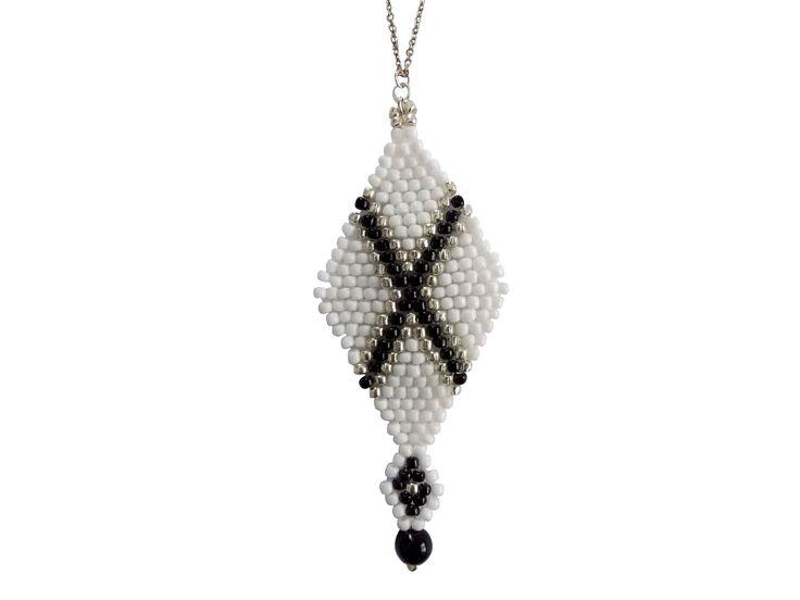 Long brick stitch necklace