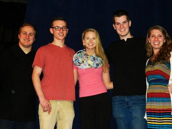 Five Pennridge High School students were chosen as a result of a competitive audition process to participate in the 2014 Pennsylvania Music Educators Association Region VI Chorus Festival at Upper Merion Area High School. The students are, from left, Richard Hayes, Brad Neely, Lauren Price, Sam Krivda and Emma Guelzow. Submitted photo
