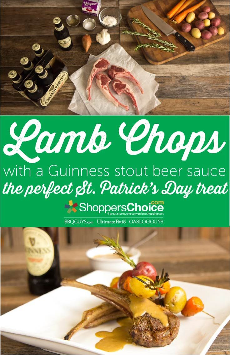 The ultimate St Patrick's Day recipe! Lamb Chops served with a Guinness stout beer sauce with rosemary potatoes. Cooked on a Memphis Grill; recipe from Chef Tony.