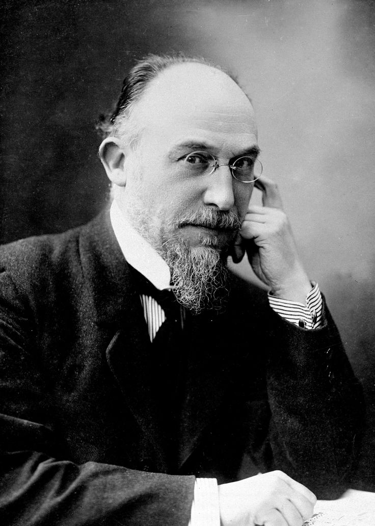 Éric Alfred Leslie Satie (signed his name Erik Satie after 1884) (17 May 1866, Honfleur – 1 July 1925, Paris) was a French composer and pianist. Description from pinterest.com. I searched for this on bing.com/images