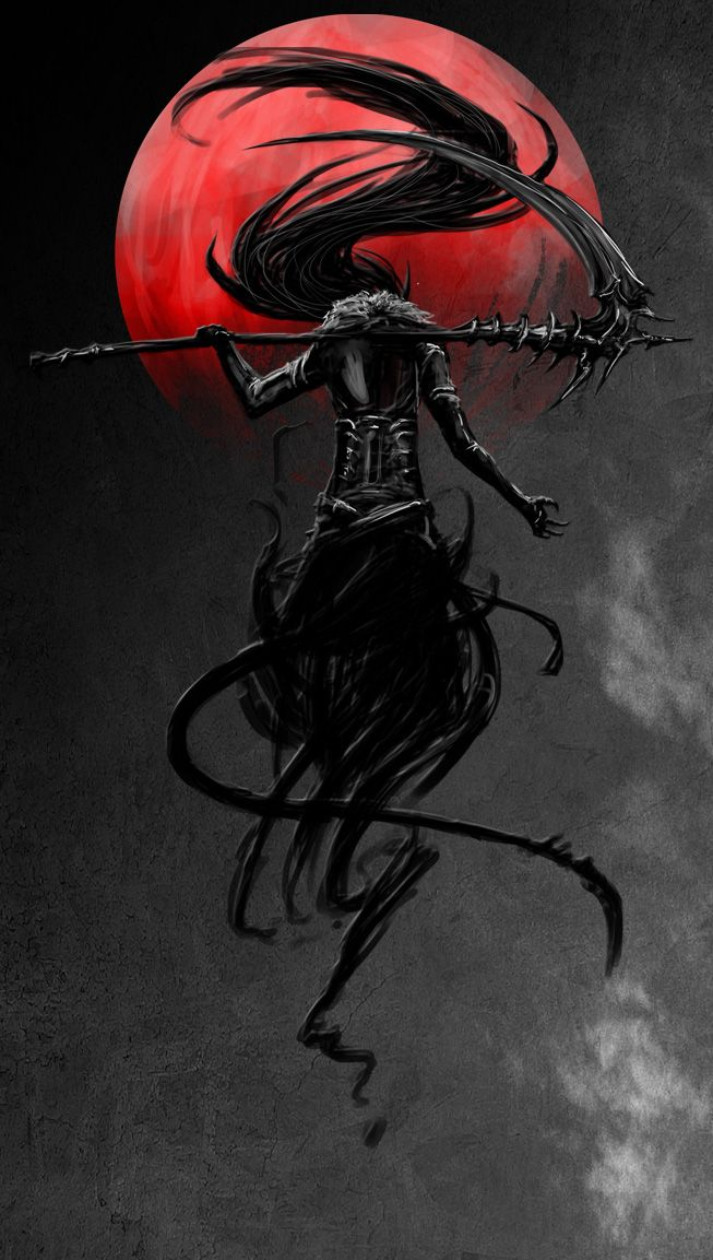 Nightmarish Original art by Banished-shadow on DeviantArt Digital Art / Drawings Paintings / Fantasy ©2013 http://www.deviantart.com/art/Little-devil-347891969