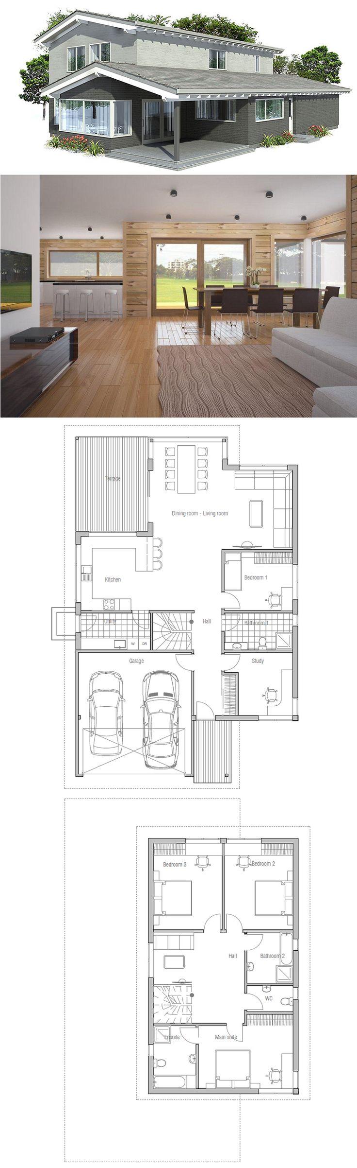 Modern Four Bedroom House Plans 17 Best Images About Narrow House Plans On Pinterest House Plans