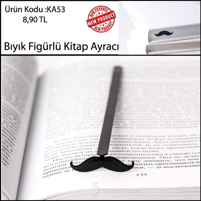 İlginç 2016 yeniyıl hediyeleri Bıyık Kitap Ayraçları KA53