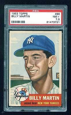 1953 Topps #86 Billy Martin PSA 7.5 Near Mint  Yankees Short Print
