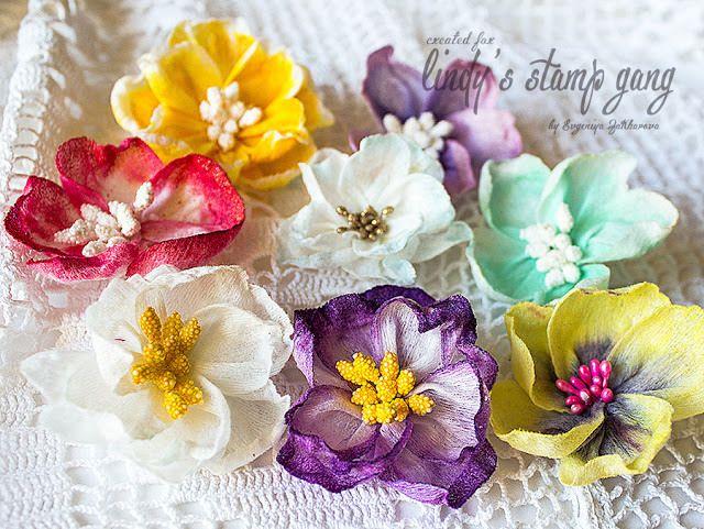 Wet Wipes Flowers Tutorial by Evgeniya Zakharova   Lindy's Stamp Gang