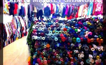 Haggling at the South Bund Fabric Market