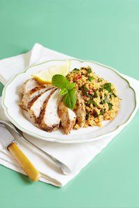 <center>Lemon adds a zingy and refreshing twist to this chicken dinner.